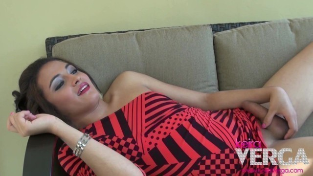 Sexy Red outdoors and hard as a tranny cock